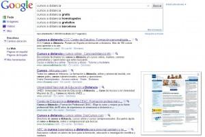 previsualizacion de google