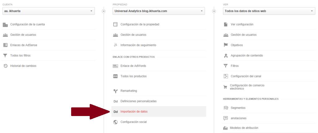 importacion-datos-admin-analytics